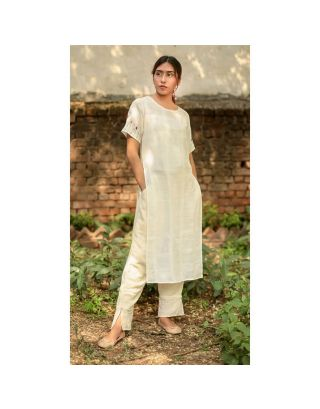 Hand Embroidered Tunic and Pants Set