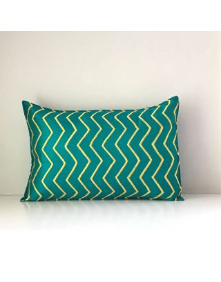 Green Embroidered Cushion Over