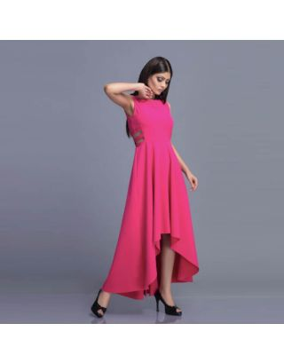 Pink Side High Low Dress