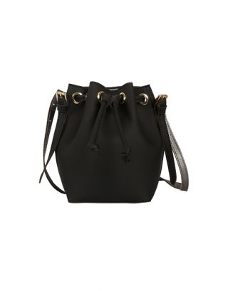Black penny bucket bag