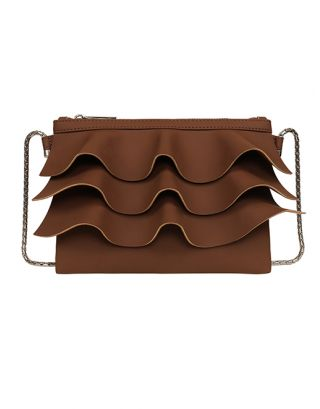 Brown small cross sling bag