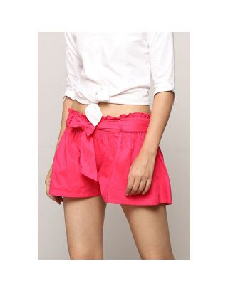 Fuschia Pink Tie Up Shorts
