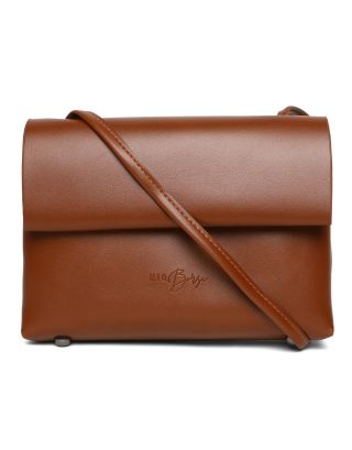 Brown PU Sling Bag