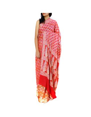 Shaded Bandhani Saree