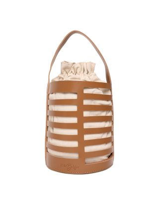 Tan Canvas Bucket Bag