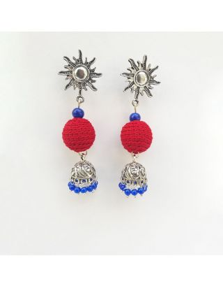 Red and Blue Jhumkas
