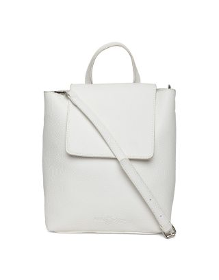 White Textured Sling Bag