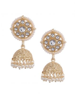 Kundan Jhumki Earrings