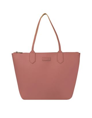 Leather Pink Mallow Tote Bag