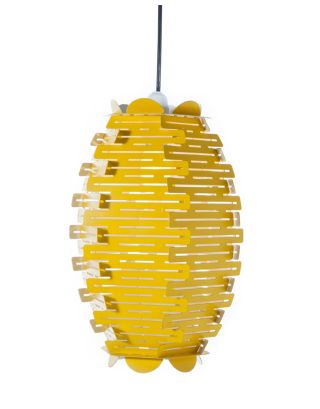 Bee-Hive Yellow Hanging Lamp