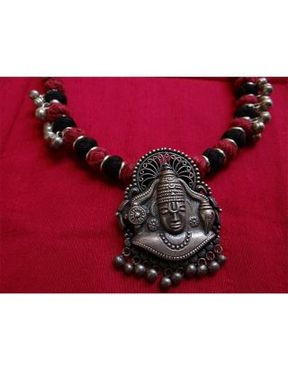 Silver Balaji Necklace