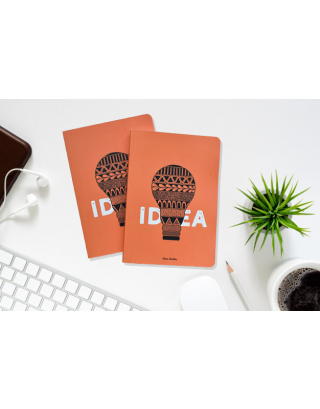 Hand Illustrated Idea A5 All Purpose Notebook (Set of 2) with Gift Box
