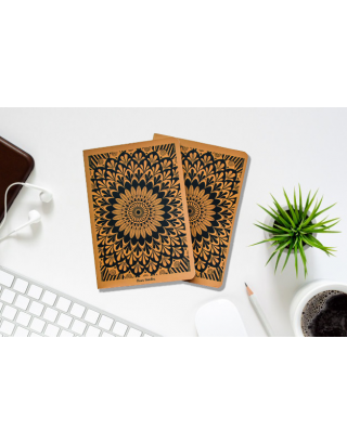 Hand Illustrated Mandala A5 All Purpose Notebook (Set of 2) with Gift Box