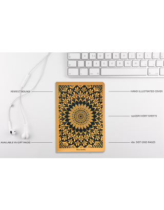 Hand Illustrated Mandala A5 All Purpose Notebook (Set of 4) with Gift Box