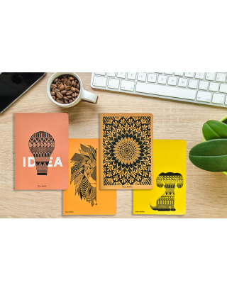 Hand Illustrated A5 All Purpose Notebook (Set of 4) with Gift Box