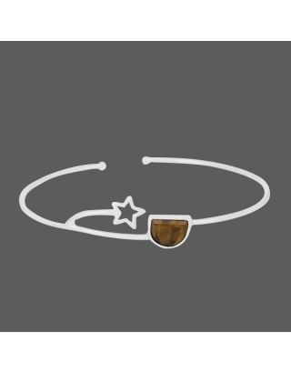 Brown Stone Star Cuff
