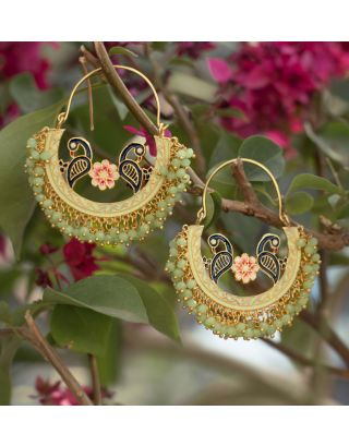 Mint Green Baali Earrings
