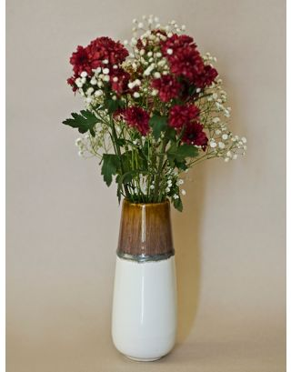 Almond Dipped Vase