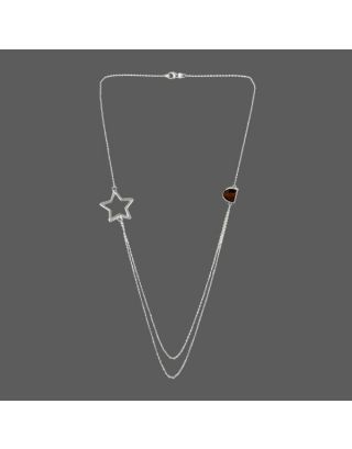 Brown Stone Star Necklace