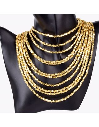 Multi Layered Gold Plated Necklace
