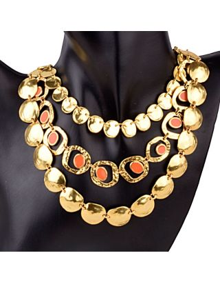 Peach Gold Plated Necklace