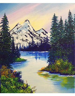 Alpine Beauty- Canvas painting