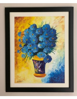 Blue Daisies- Canvas Painting