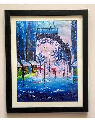 Snow in Paris- Canvas Painting