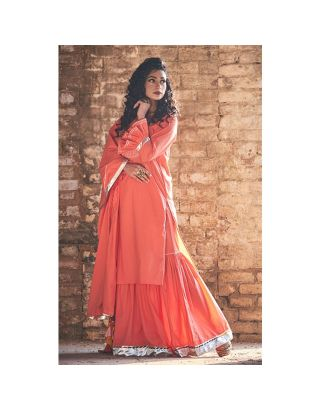Peach Sharara set