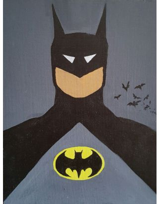 Batman Acrylic Canvas Painting