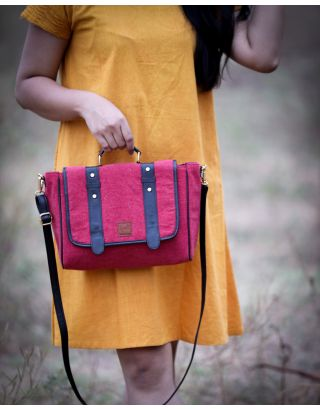 Berry Red Satchel Sling