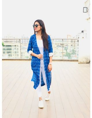 Blue Ikat Jacket