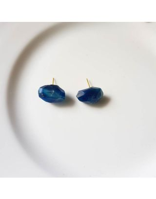 Blue Ballon Studs Earrings
