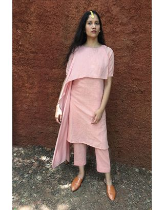 Pink Fit N Flare Tunic