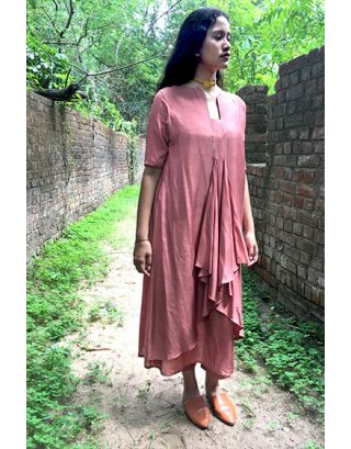 Rose Pink Pintucks Tunic