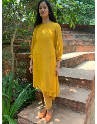 Yellow Organza Tunic
