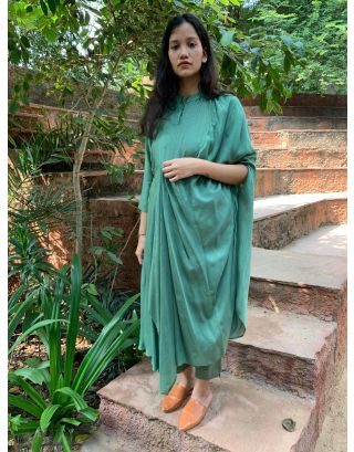 Teal Green Drapey Tunic