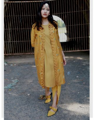 Mustard Jacket With Dress