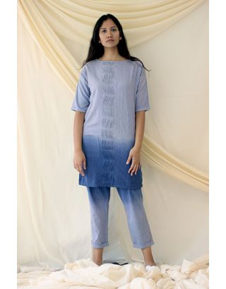 Blue Ombre Dyed tunic