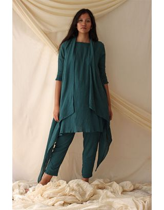 Green Tunic Pant Set