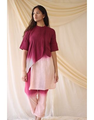 Pink & Wine Tunic & Pant Set
