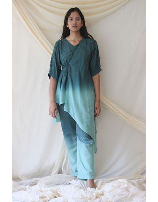Mint Green Hi-Low Tunic Set