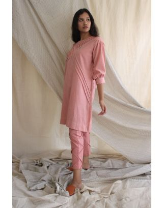 Pink Cotton Linen Tunic