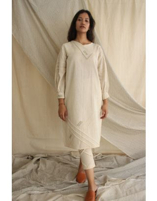 Ivory Cotton Linen Tunic