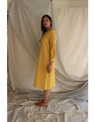 Yellow Cotton Linen Tunic