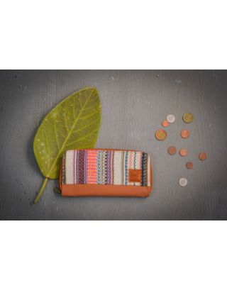 Cinnamon Frost Striped Clutch Wallet