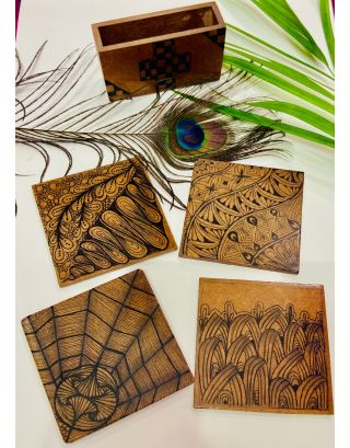Wed Flux Coasters Set of 4)