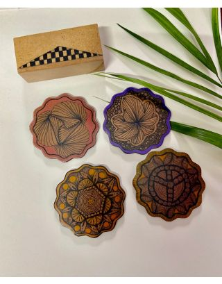 Elephant Swirl Coasters (Set of 4)