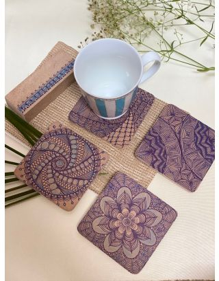 Blue Swirl Coasters (Set of 4)