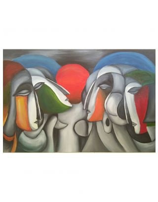 Conversations Oil Painting